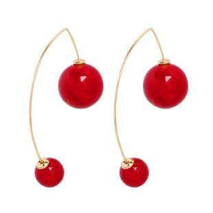 Moda salvaje temperamento creativo tamaño pendientes de perlas de imitación NHMD129256's discount tags