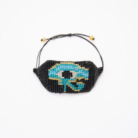 Fashion Beizhu Woven Egyptian Horus Eye Bracelet NHGW129260's discount tags