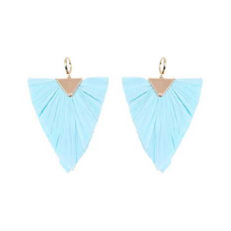 Fan-shaped water drops beach holiday wind alloy color matching earrings NHLL129264's discount tags
