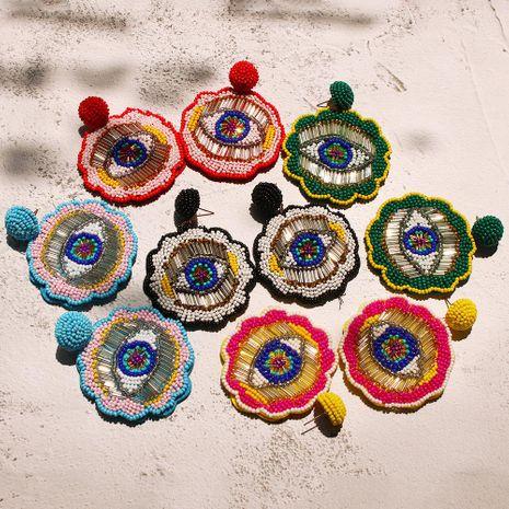 Womens Geometric Beads Earrings NHMD129267's discount tags