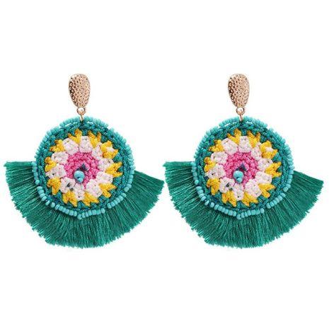 Popular color handmade rice beads tassel alloy earrings NHMD129271's discount tags