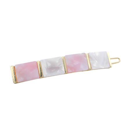 Womens Square Plating Acrylic Hair Accessories NHLL129275's discount tags