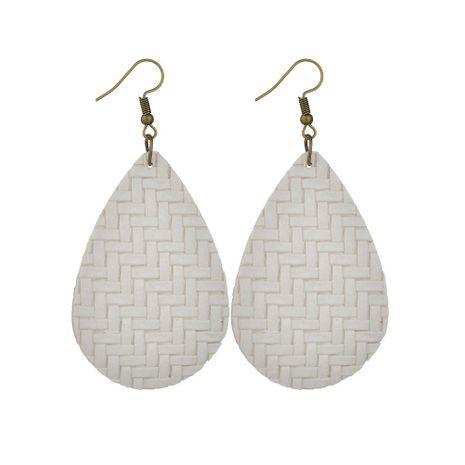 Womens teardrop shaped PU leather Earrings NHBQ129274's discount tags