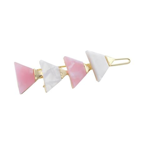 Womens Triangle Plating Acrylic Hair Accessories NHLL129277's discount tags