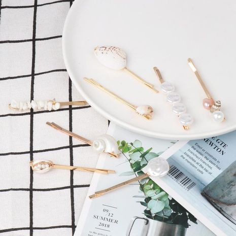 Womens Starfish Shell Beads Conch Shell Mix Material Hair Accessories NHJJ129288's discount tags