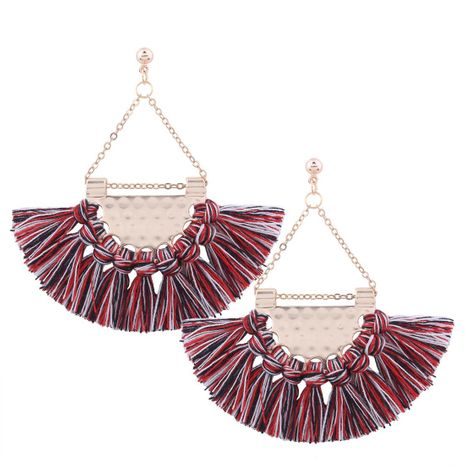 Womens tassel plating alloy Earrings NHMD129300's discount tags