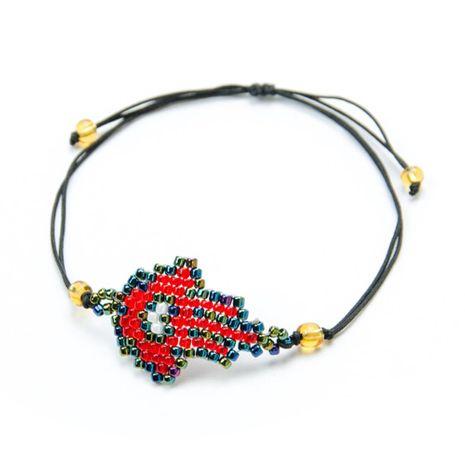 Fashion beige beads woven classic palm Fatima hand bracelet NHGW129307's discount tags