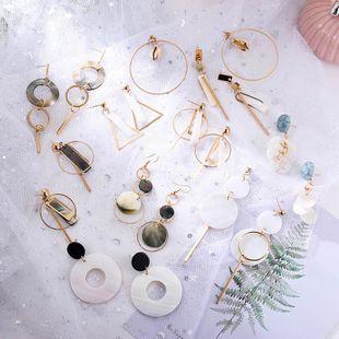 Pendientes largos populares de la aleación de la cáscara natural del verano de la moda NHSD129311's discount tags