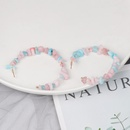 New Resin Acrylic Stone Cshaped Pink Sweet Beauty Earrings NHJJ129102