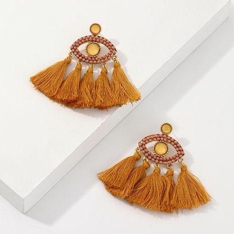 Boucles d'oreilles en alliage de gland en forme de œil avec perles de riz et modèles de mode NHNZ129381's discount tags