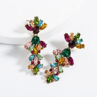 Exaggerated big-name multi-layer acrylic rhinestone earrings NHJE129478's discount tags