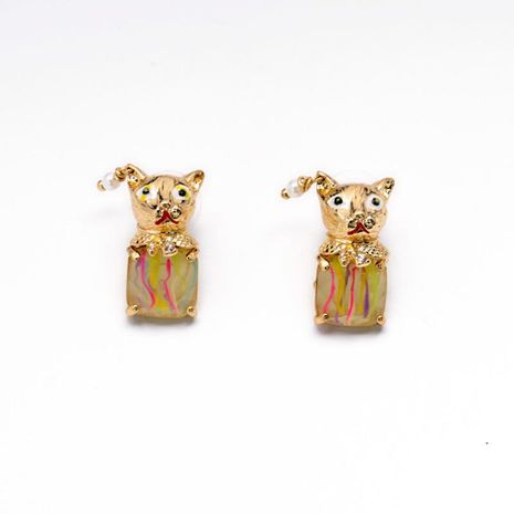 Fashionable hipster cute dog puppy alloy earrings NHQD129489's discount tags