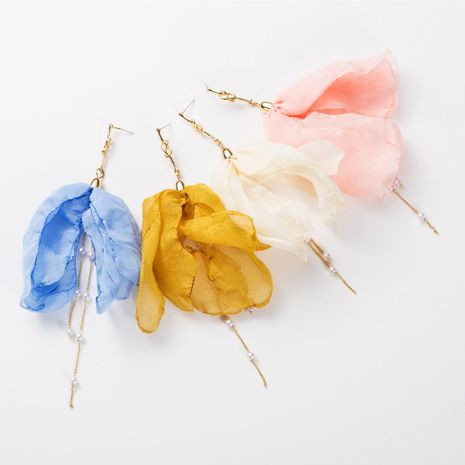 Fashion Beads Hypoallergenic Floral Lace Earrings NHJE129494's discount tags