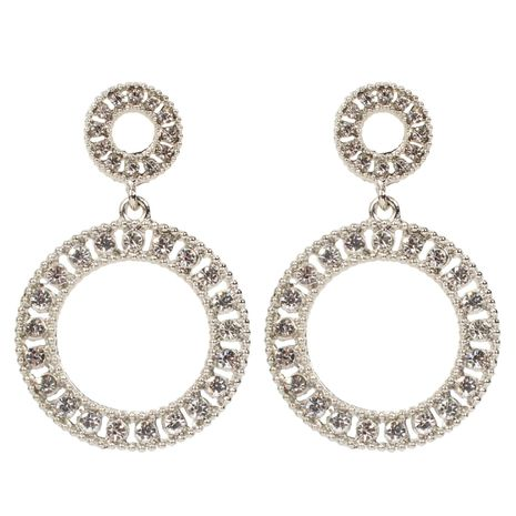 Womens Round Electroplated Metal Earrings NHCT129503's discount tags