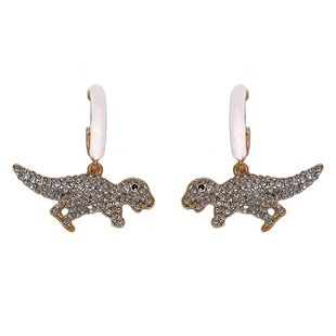 New cute little dinosaur with rhinestone earrings NHJQ129513's discount tags