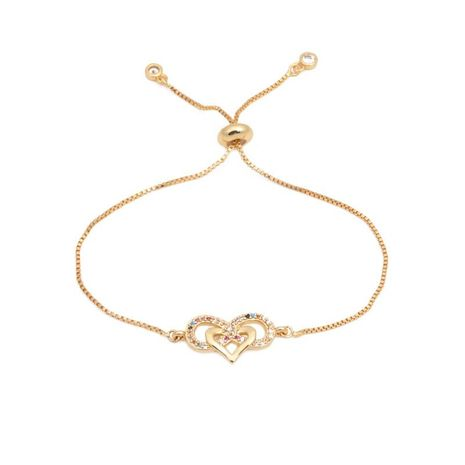 Color micro-inlaid zircon love pulling bracelet NHYL129515's discount tags