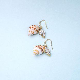 Womens Conch Rhinestone Alloy Earrings NHQD129518's discount tags