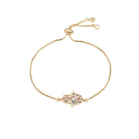 Luxurious color zircon adjustable devil eye bracelet NHYL129522's discount tags