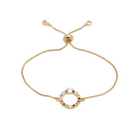 Fashion micro-inlaid zircon heart pull bracelet NHYL129524's discount tags