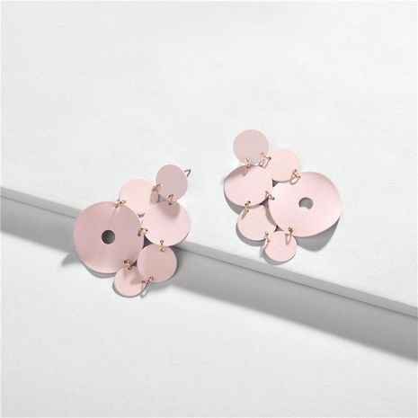Round color paint multi-layer geometry female earrings NHLU129525's discount tags