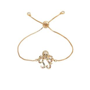 New micro-inlaid zircon octopus draw bracelet NHYL129527's discount tags