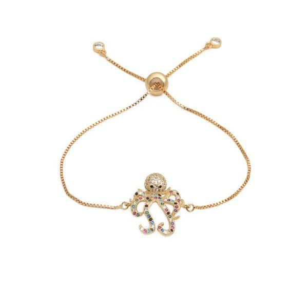New micro-inlaid zircon octopus draw bracelet NHYL129527