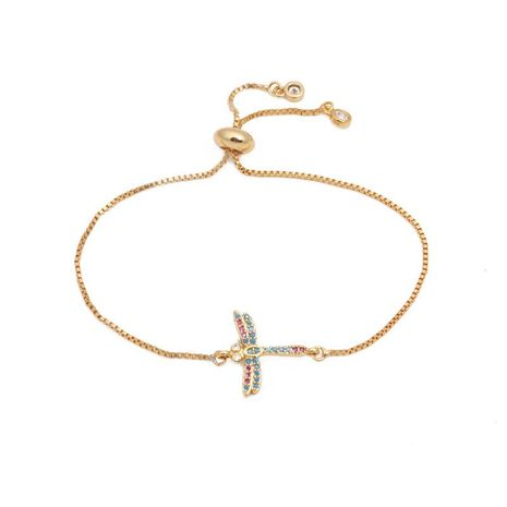 Stylish luxury color zircon adjustable insect bracelet NHYL129532's discount tags