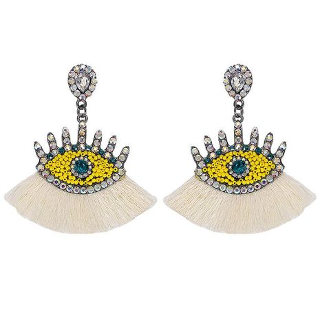 Fashion Rhinestone Beaded Tassel Earrings NHJQ129535's discount tags