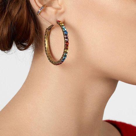 Womens Geometric Rhinestone Alloy Earrings NHJQ129544's discount tags