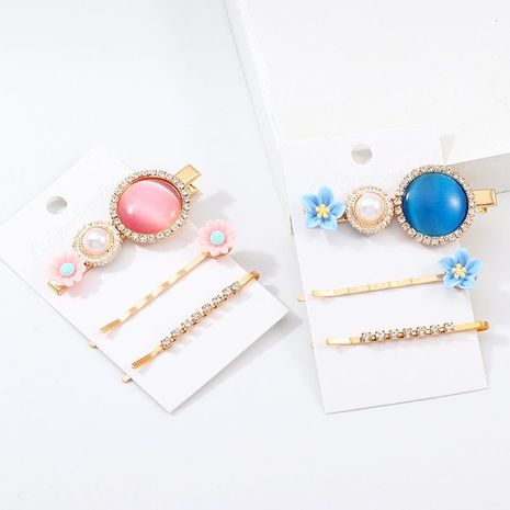 Small fresh resin flower side clip combination hair accessory set NHNZ129551's discount tags