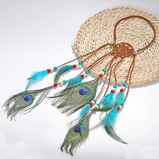 Womens Feather Handmade Feather Hair Accessories NHJQ129557's discount tags