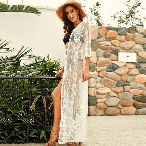 Blusa bordada calado bordado protector solar para mujer fuera de la blusa NHXW129571's discount tags