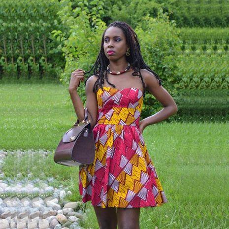 Falda de la cintura del pecho envuelto comercio exterior vestido grande de estilo sudamericano NHDF129675's discount tags