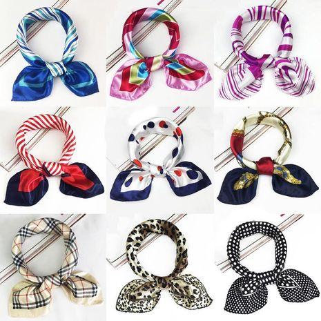 Fashion simple print small square scarf NHMN129795's discount tags