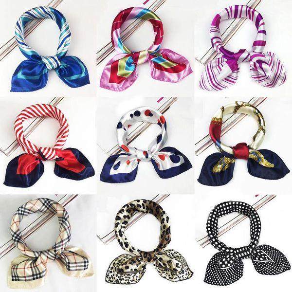 Fashion simple print small square scarf NHMN129795