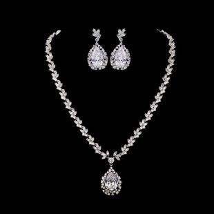 Womens Electroplated Copper and Zircons Jewelry Sets NHTM129854's discount tags