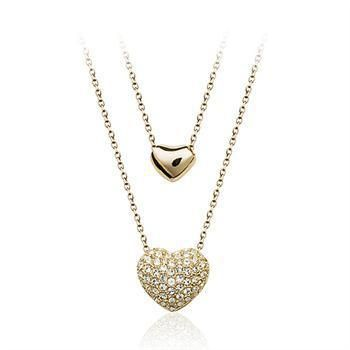 Womens heart-shaped set of Austrian imitated crystal alloy Necklaces NHLJ129881