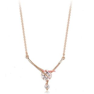 Stylish high-grade inlaid AAA zircon necklace NHLJ129895's discount tags
