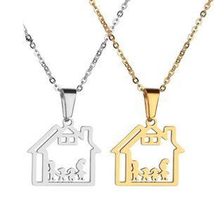 Womens Doll Plated Stainless Steel Necklaces NHHF129898's discount tags