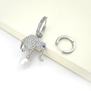 Fashion asymmetric elephant earrings with beads earrings NHLJ129908's discount tags