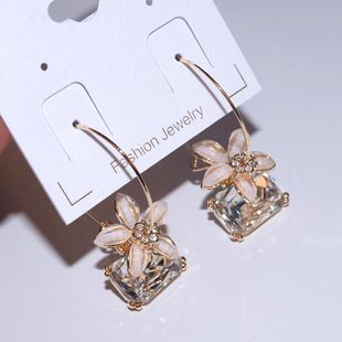 Korean version of the new flower imitated crystal earrings NHLJ129901's discount tags