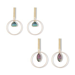 Long heart-shaped round horse eye earrings NHGO129923's discount tags