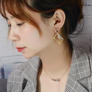 Titanium steel dripping fashion earrings NHOK129932's discount tags