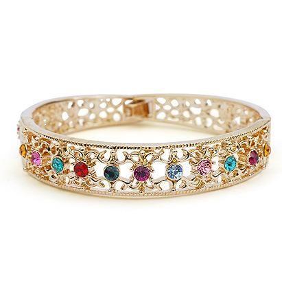 Vintage Luxury Openwork Imitated crystal Bracelet NHLJ129959