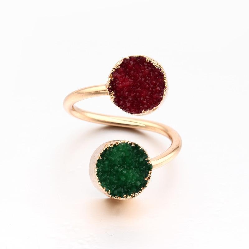 Simple geometric adjustable color resin ring NHGO129985