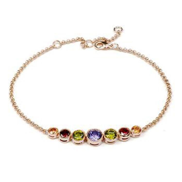 Stylish and delicate small circle imitated crystal bracelet NHLJ129992