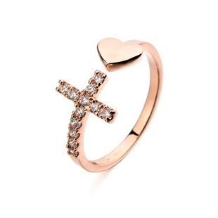 Happy micro-inlaid cross love ring NHLJ130001's discount tags