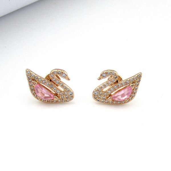 New Pink Imitated crystal Little Swan Temperament Set NHLJ130020