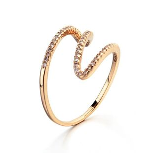 Fashion zigzag alloy ring NHLJ130023's discount tags