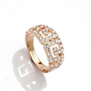 Fashionable vintage rhinestone ring NHLJ130031's discount tags